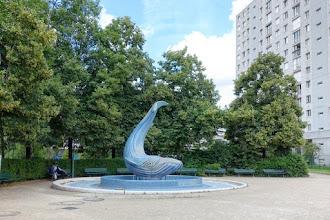Paris : Fontaine de la Baleine Bleue - Square Saint Eloi - XIIème