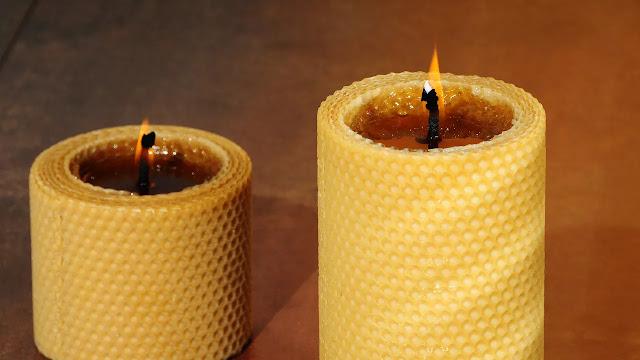 vela de cera de abeja