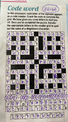 Neighbours Codeword Puzzle