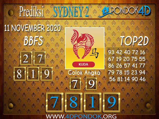 Prediksi Togel SYDNEY2 PONDOK4D 11 NOVEMBER 2020