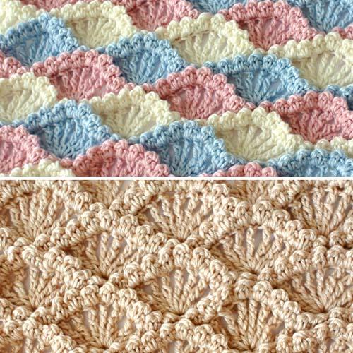 Textured Shell Stitch - Free Pattern