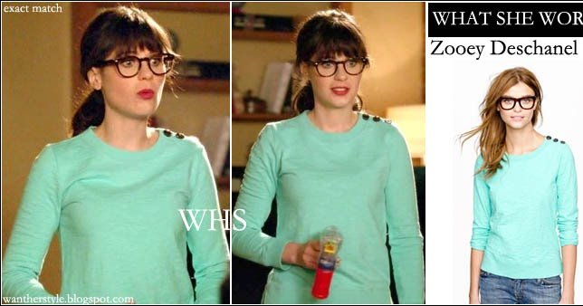 What She Wore Zooey Deschanel In Mint Neon Green Sweater On New Girl Season 2 Episode 10 I