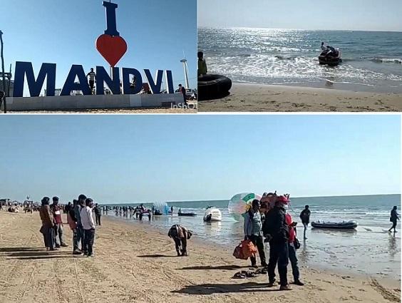मांडवी बीच (बंदरगाह) भुज, कच्छ, गुजरात, - Mandvi Beach Bhuj, Kachchh, Gujarat