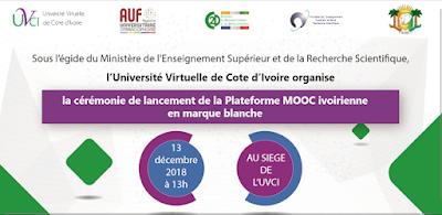 Côte d'Ivoire : Lancement de la première plateforme MOOC par l'université virtuelle de côte d'ivoire