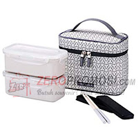 Lock & Lock Lunch Box Clover Bag Ivory HPL762CIS