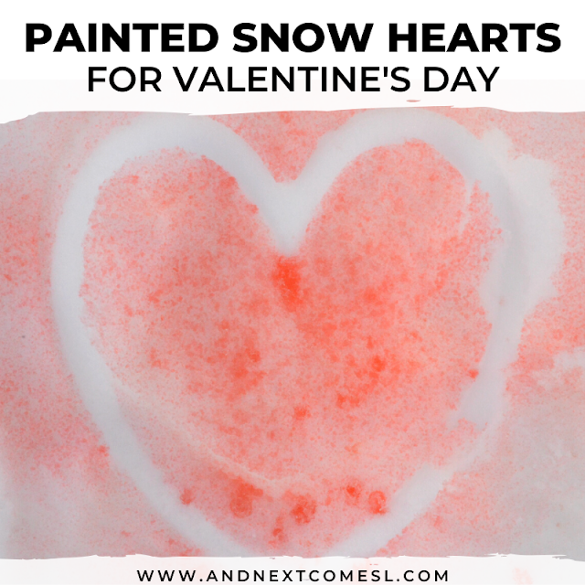 Painted snow - a fun activity for kids