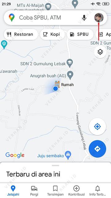 ketuk profil google maps
