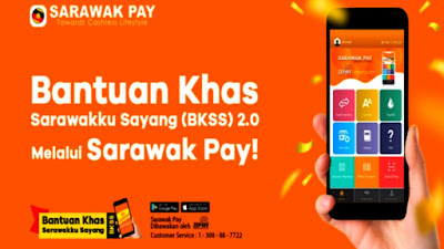 Permohonan Bantuan Khas Sarawakku Sayang 2020 BKSS Melalui Sarawak Pay