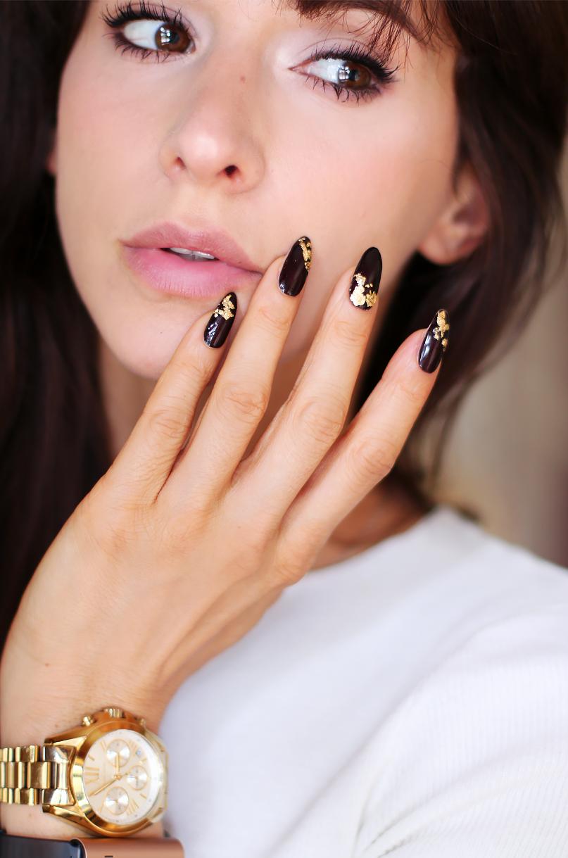 Francuski Manicure Czy Wieczorowe Paznokcie Ze Zlotem Alina