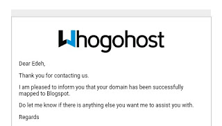 HOW TO SETUP WHOGOHOST DOMAIN ON BLOGGER