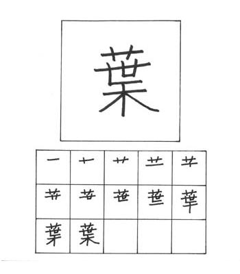 kanji daun