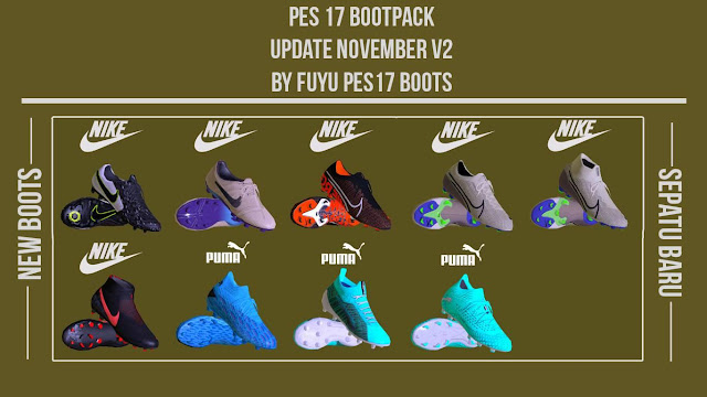 PES 2017 Boots November Update by Fuyu