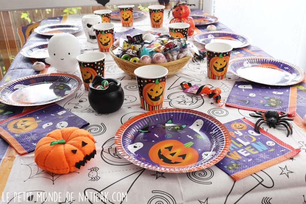 idée de décoration de table pour Hallowwen