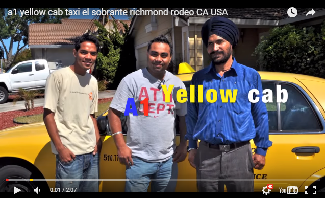 yellow  taxi cab in El sobrante, Rodeo Richmond Ca USA