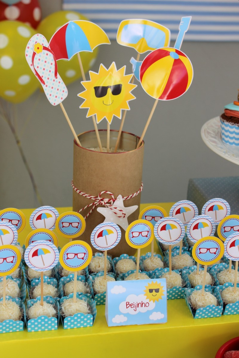 Festa Infantil Tema Praia  Guia Tudo Festa  Blog de