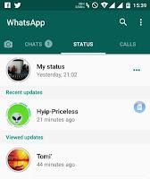 whatsapp-Status-tab