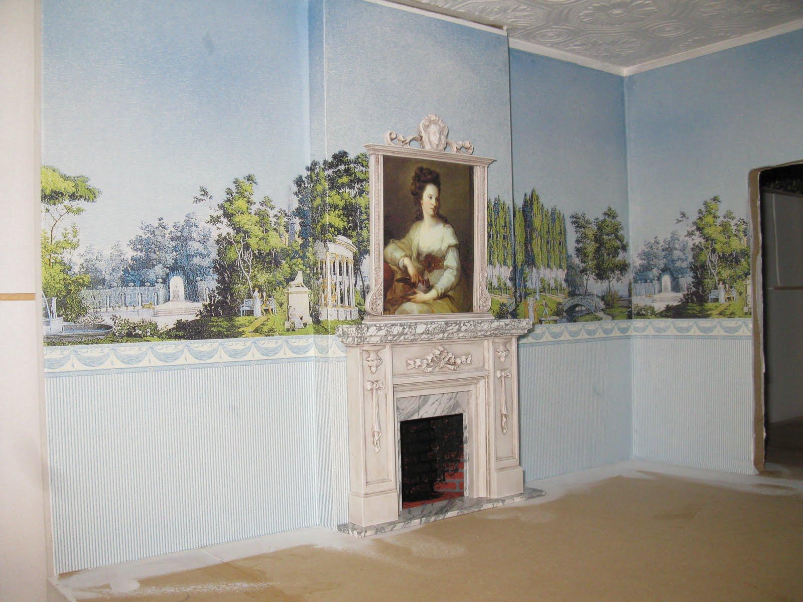 Late victorian english manor dollhouse 1 12 miniature - Late victorian wallpaper ...