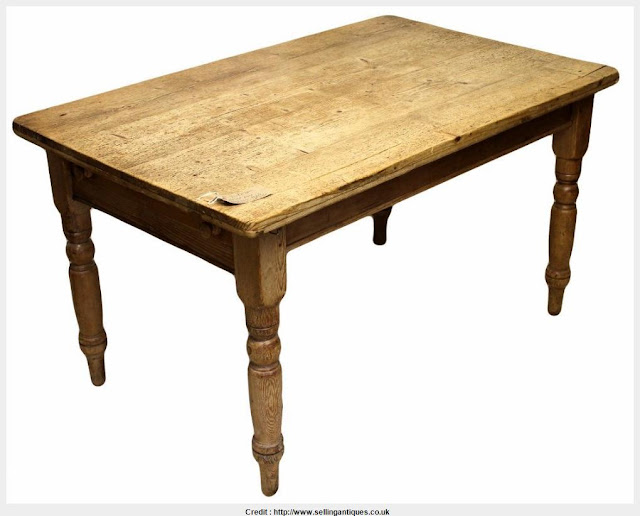Must see Antique Pine Dining Table Graphic