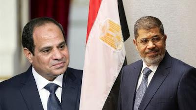 الرئيس السيسي والمعزول محمد مرسي