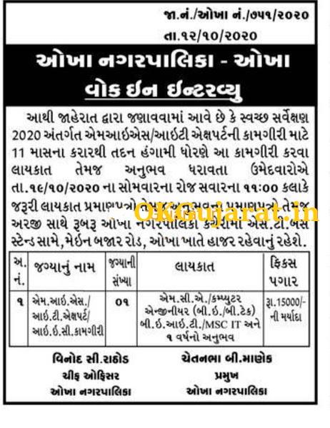 Okha Nagarpalika Recruitment