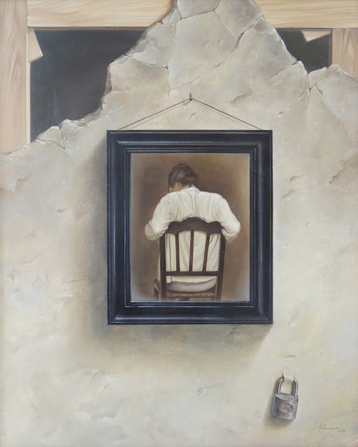 Alberto Pancorbo arte moderno hiperrealista surrealista cuadro en cuadro pintura muro