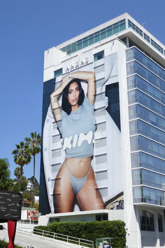 Kim Kardashian Skims shapewear billboard