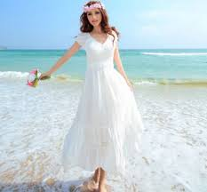 Most Recommend White Beach Wedding Dresses Casual Make You Awesome