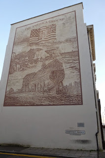 'The America Ground' painting on Robertson Passage by Jon Cole, Susan Elliott, Pete Thompsett and Benjamin Gough