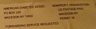 Mailing label says the ADA is a non-profit organization - that's pretty much guaranteed now...