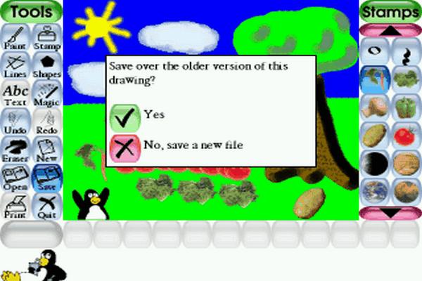 Tux Paint screenshot software