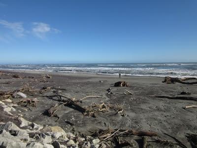 Playa de Hokitika, Nueva Zelanda