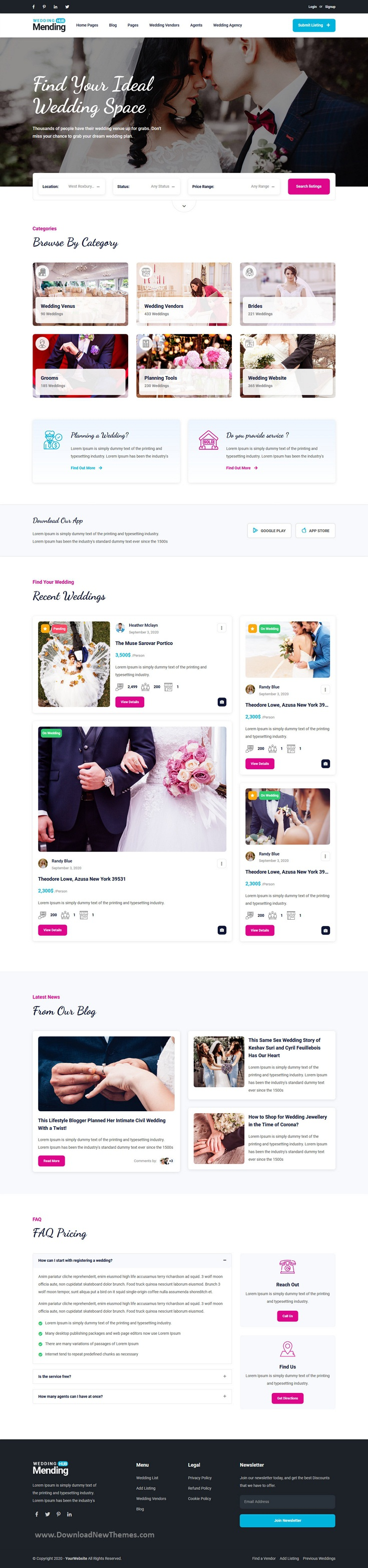 Wedding Listing HTML5 Template