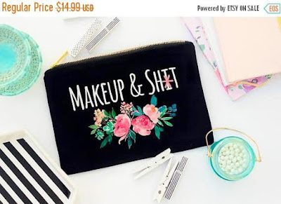 Makeup and Shit bag on Etsy