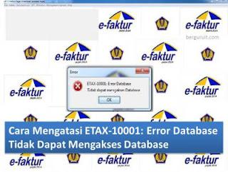 e-Faktur Error ETAX-10001