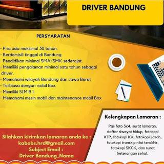 Lowongan Kerja Driver Kabobs Bandung