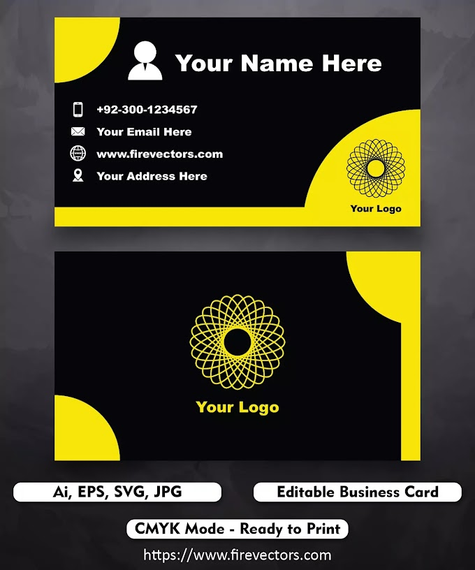 Business Card Template Ai - 12