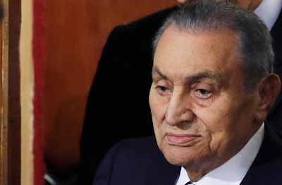 "Mubarak in one of the recent photos at trial ""Reuters"""