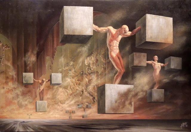 Enrique Nieto arte surrealista denuncia calvario post-moderno