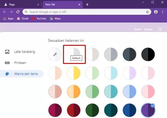 mengubah warna toolbar, menu dan tema Google Chrome-4