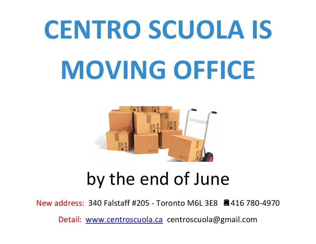 We Are Moving the office