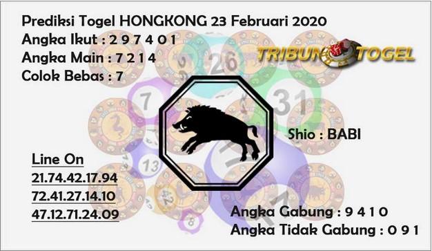 Prediksi Togel JP Hongkong 23 Februari 2020 - Prediksi Tribun Togel