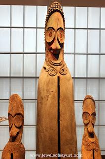 wooden mask totem
