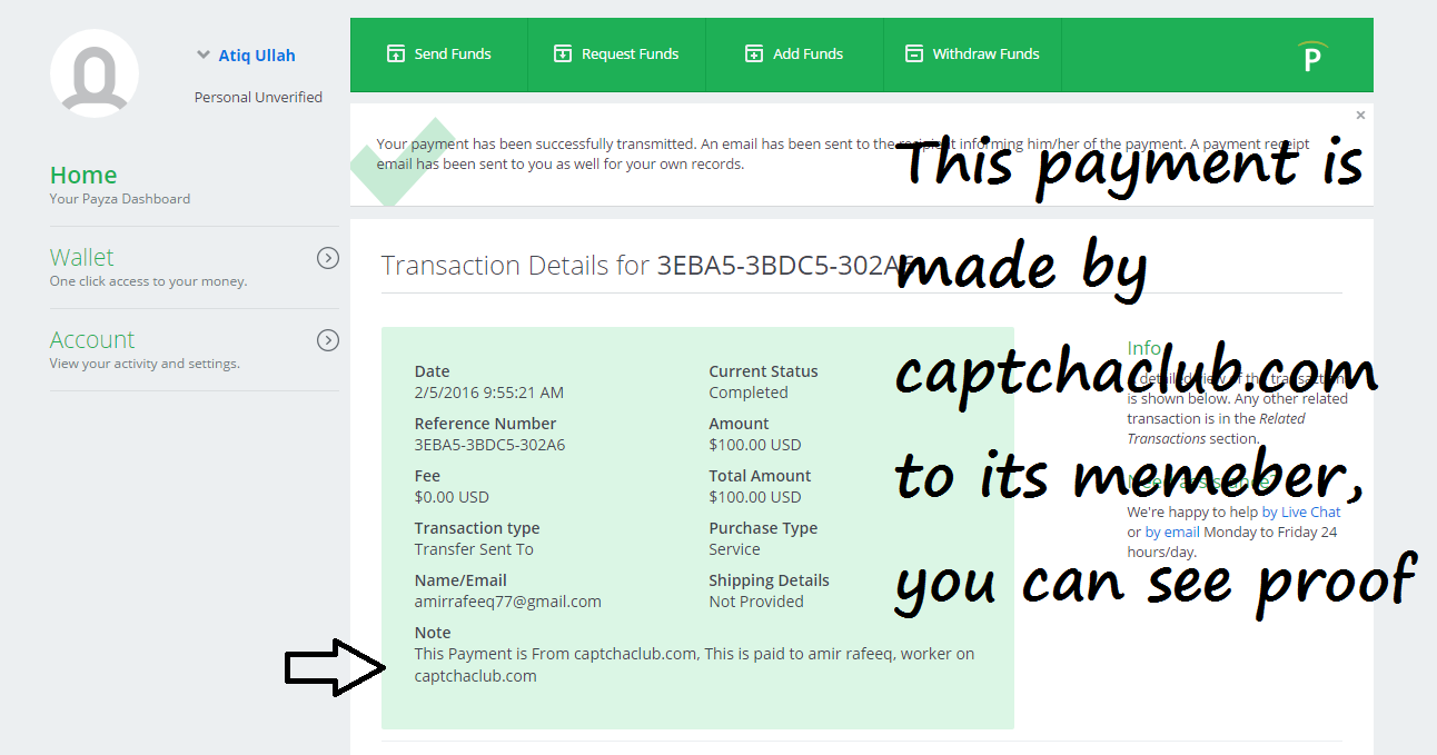 captchaclub payment proof  payment proof for captchaclub com online captcha typing easy jobs