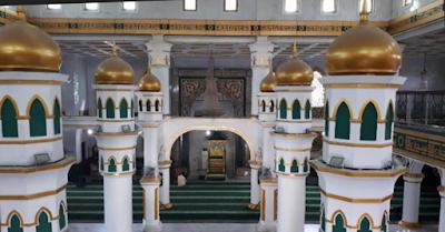 Lokasi Wisata Sejarah Kota Pekanbaru TIANG ENAM MESJID RAYA PEKANBARU