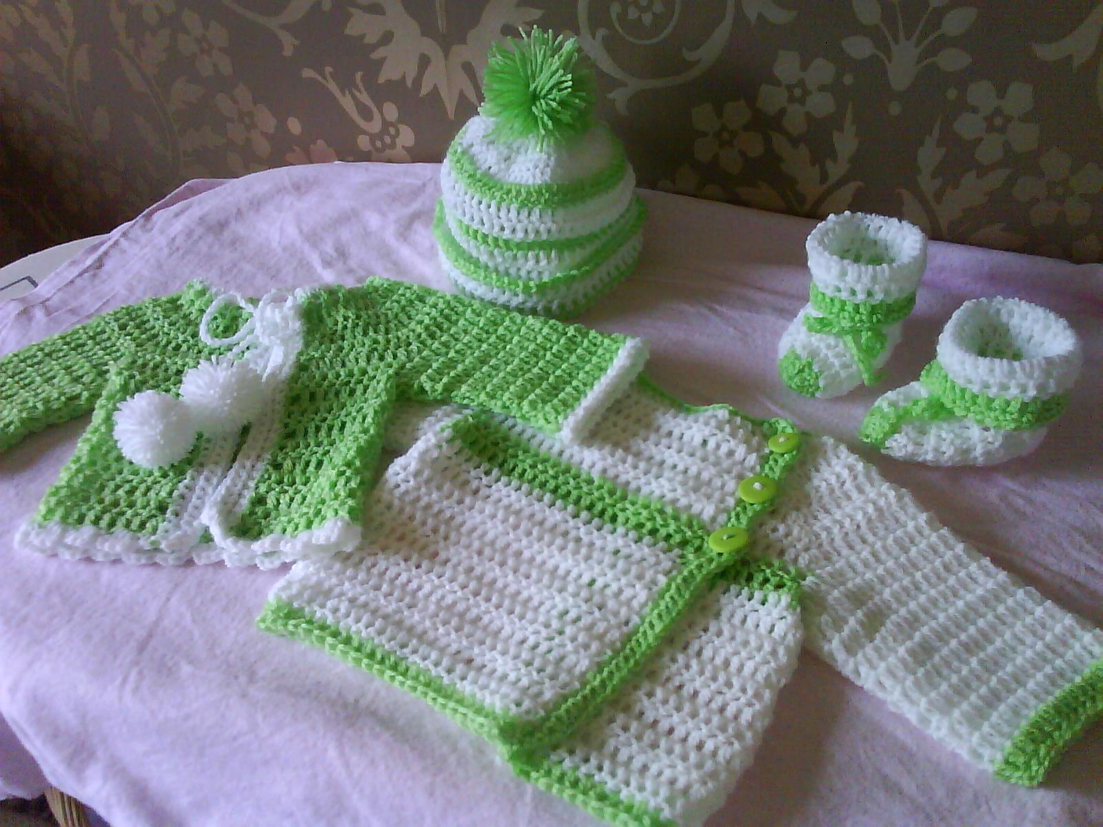 gratis mönster virkade babykläder