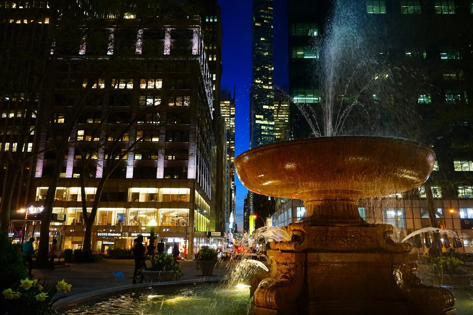 Fontaine de Bryant Park  - Voyage à NewYork - Le Chameau Bleu