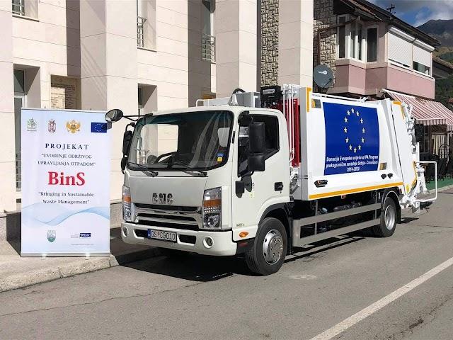 Gusinje dobilo novi kamion za odvoz smeća