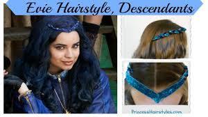 Disney's Descendents hairstyle tutorial, Evie