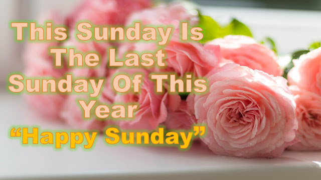 Happy Last Sunday Of The Year 2018