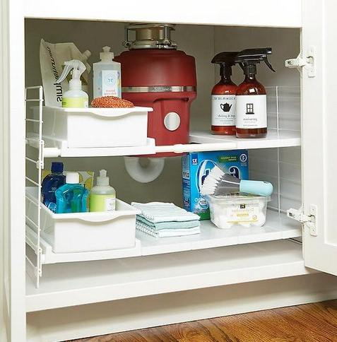 Expandable Under Sink Bath Cabinet Organizer